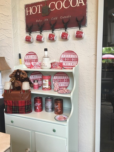 little hutch with a Hot cocoa bar