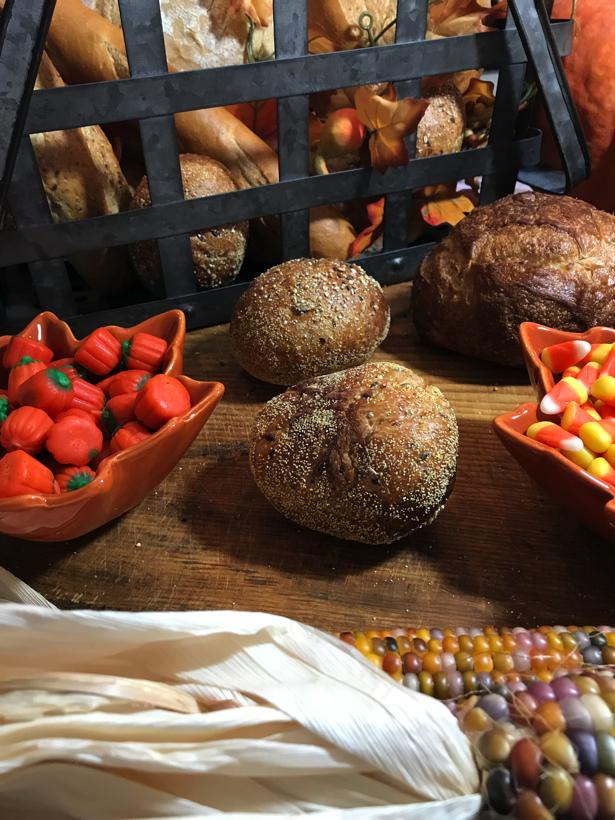 Breakfast with fresh breads