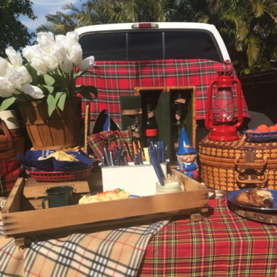 Tailgate Picnic Can Be Any Where, Any Time And Not Necessarily In The Stadium Parking Lot!