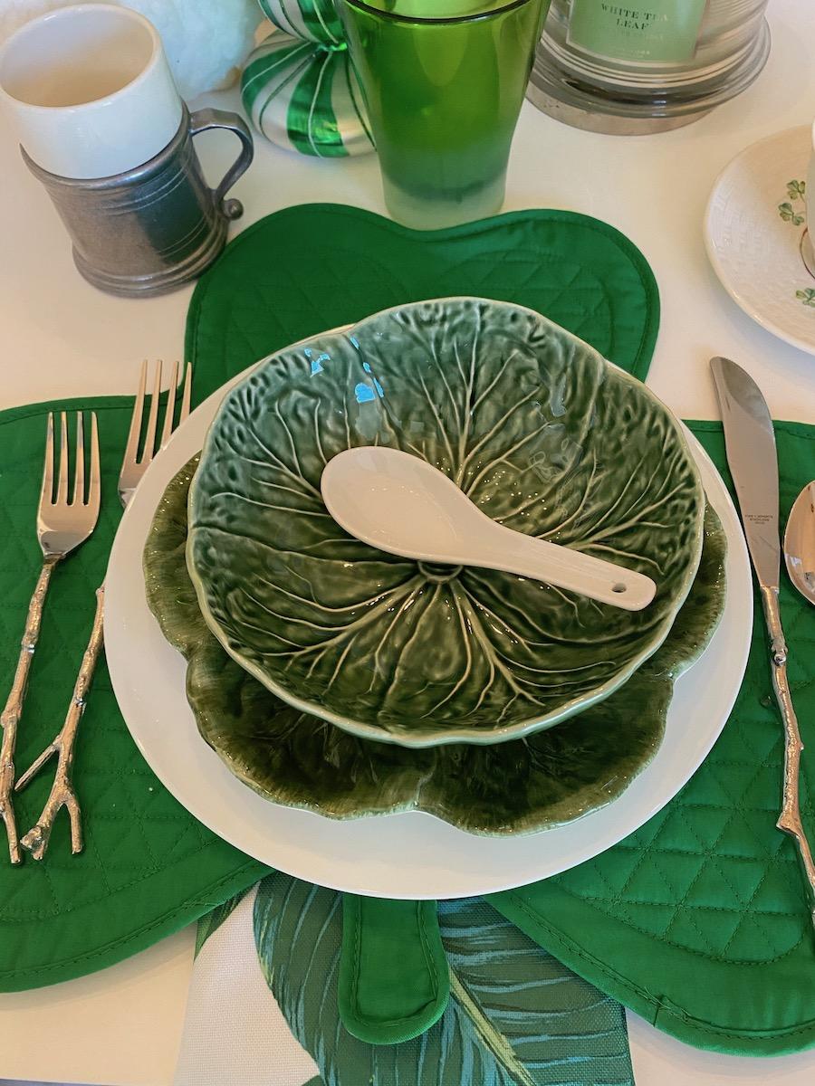 Quiet St. Patrick's Day dinner