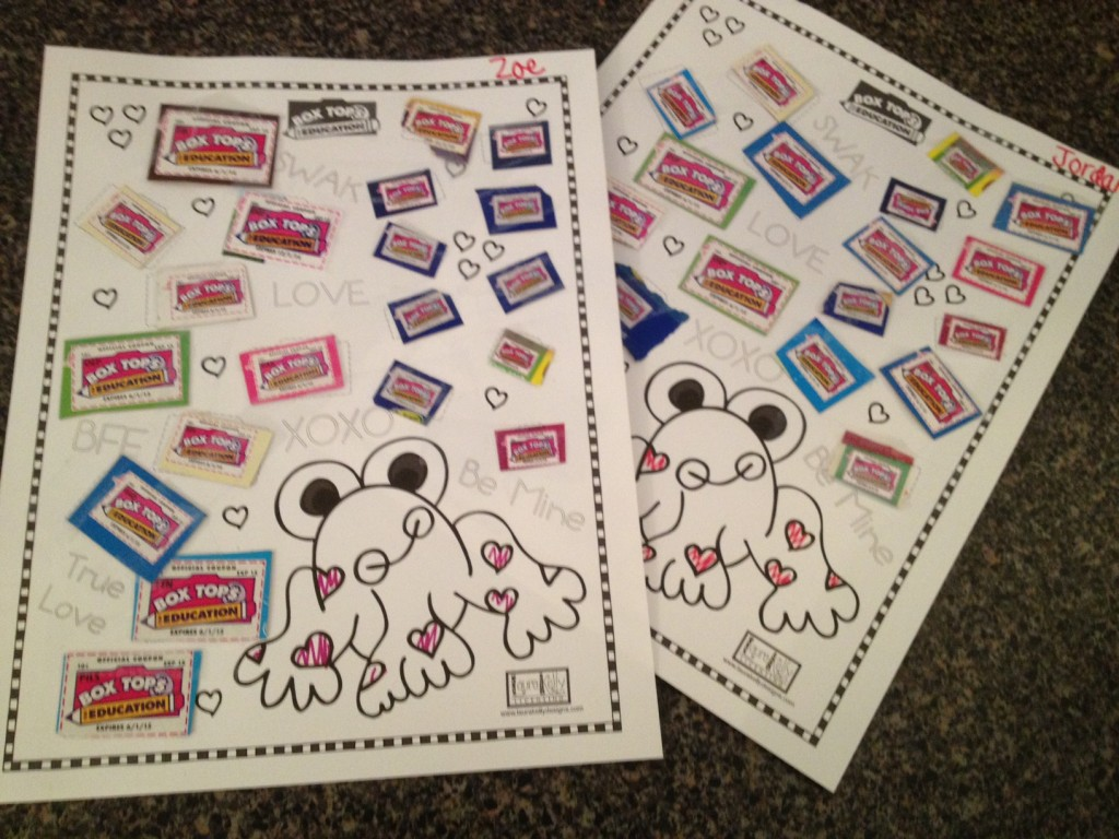 I Heart Frogs And Box Tops For Education And Prizes Too