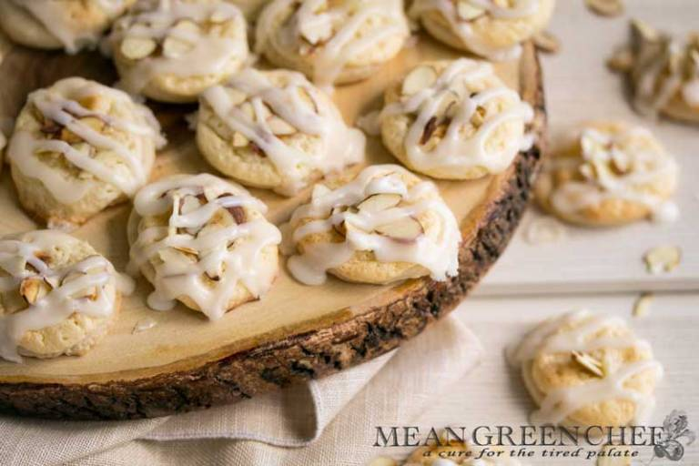 Almond Pastry Cookies Recipe | Mean Green Chef | Melt in your mouth Almond Pastry Cookies, perfect for Easter Brunch and special occasions! These are truly WOW cookies, your family and friends will be asking for the recipe. #cookies #almondpastry #cookiesofinstagram #almondcookies #almond #cookiedough #cookieexchange #foodphotography #foodstyling #foodstyle #meangreenchef #MGCKitchens