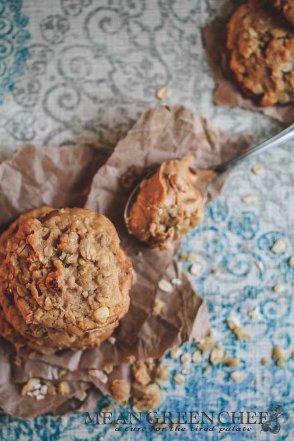 Peanut Butter Oatmeal Cookies Mean Green Chef