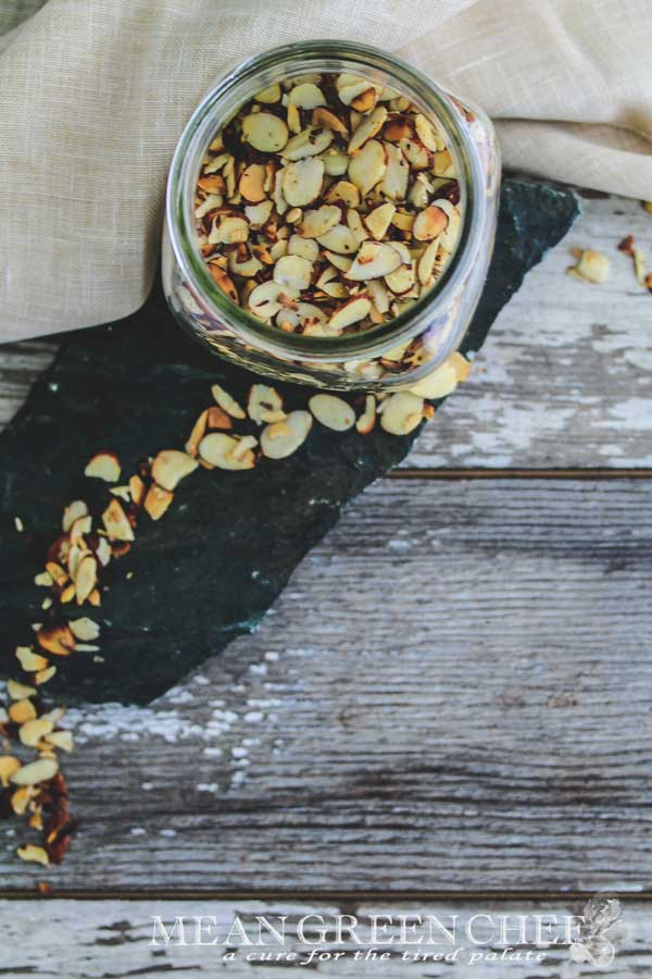 Pan Roasted Almonds Mean Green Chef