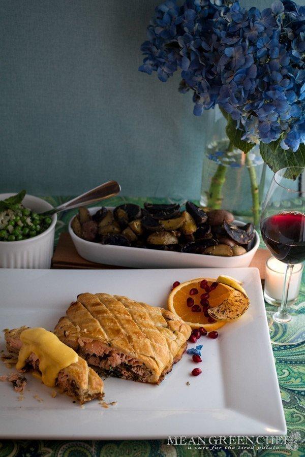 Wild Alaskan Salmon en Croute Recipe | Mean Green Chef