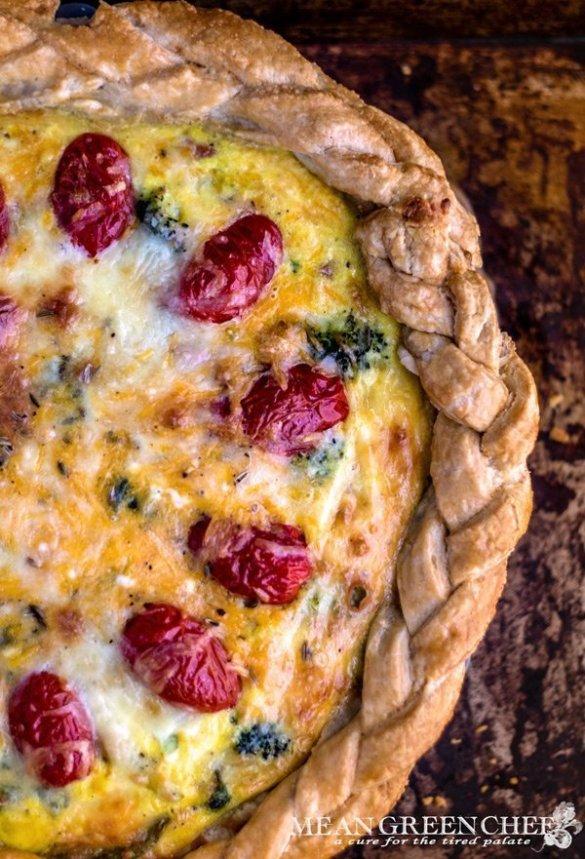Nellie's Christmas Quiche Recipe | Mean Green Chef
