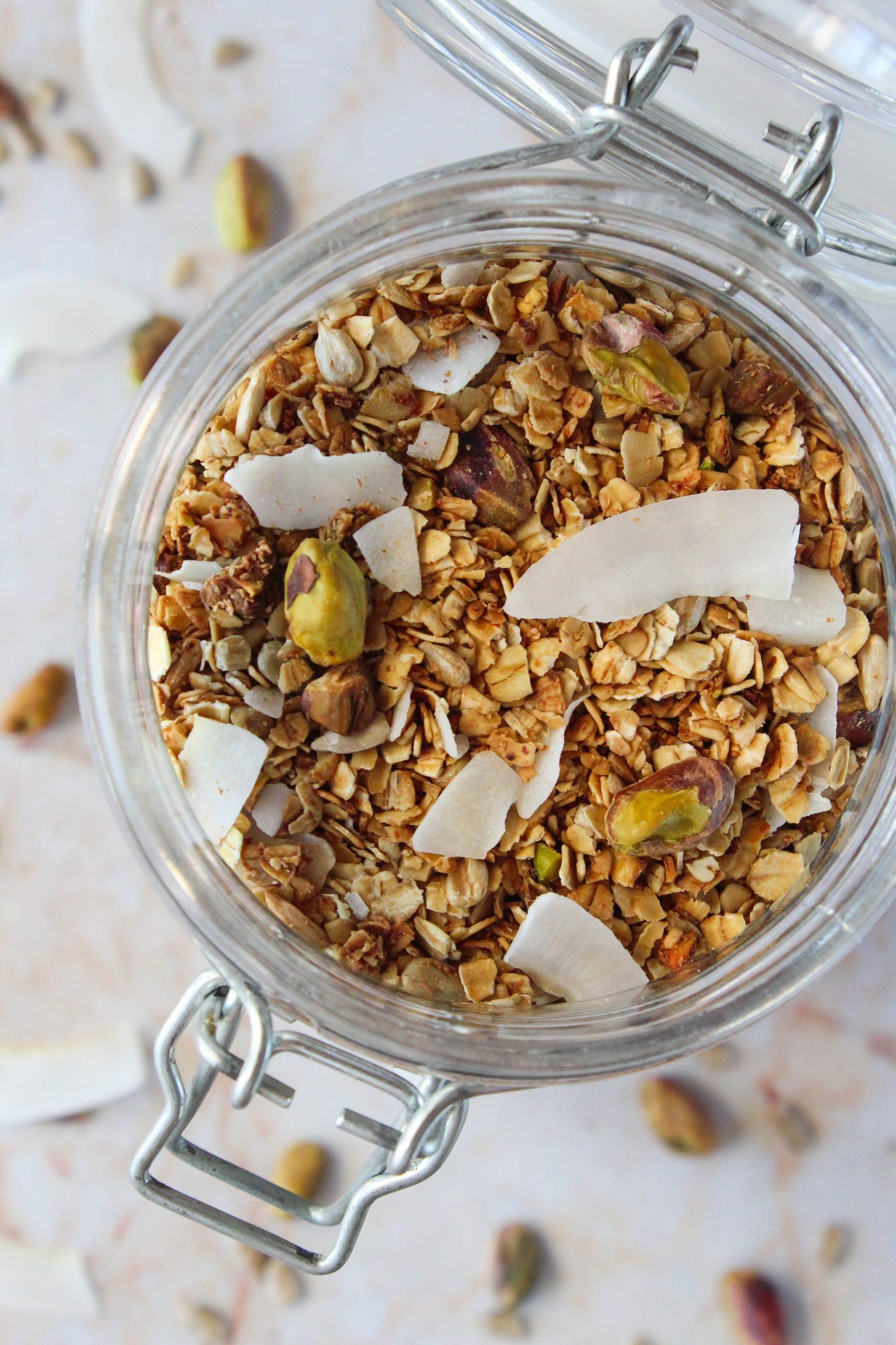Granola de coco e pistáchio 4