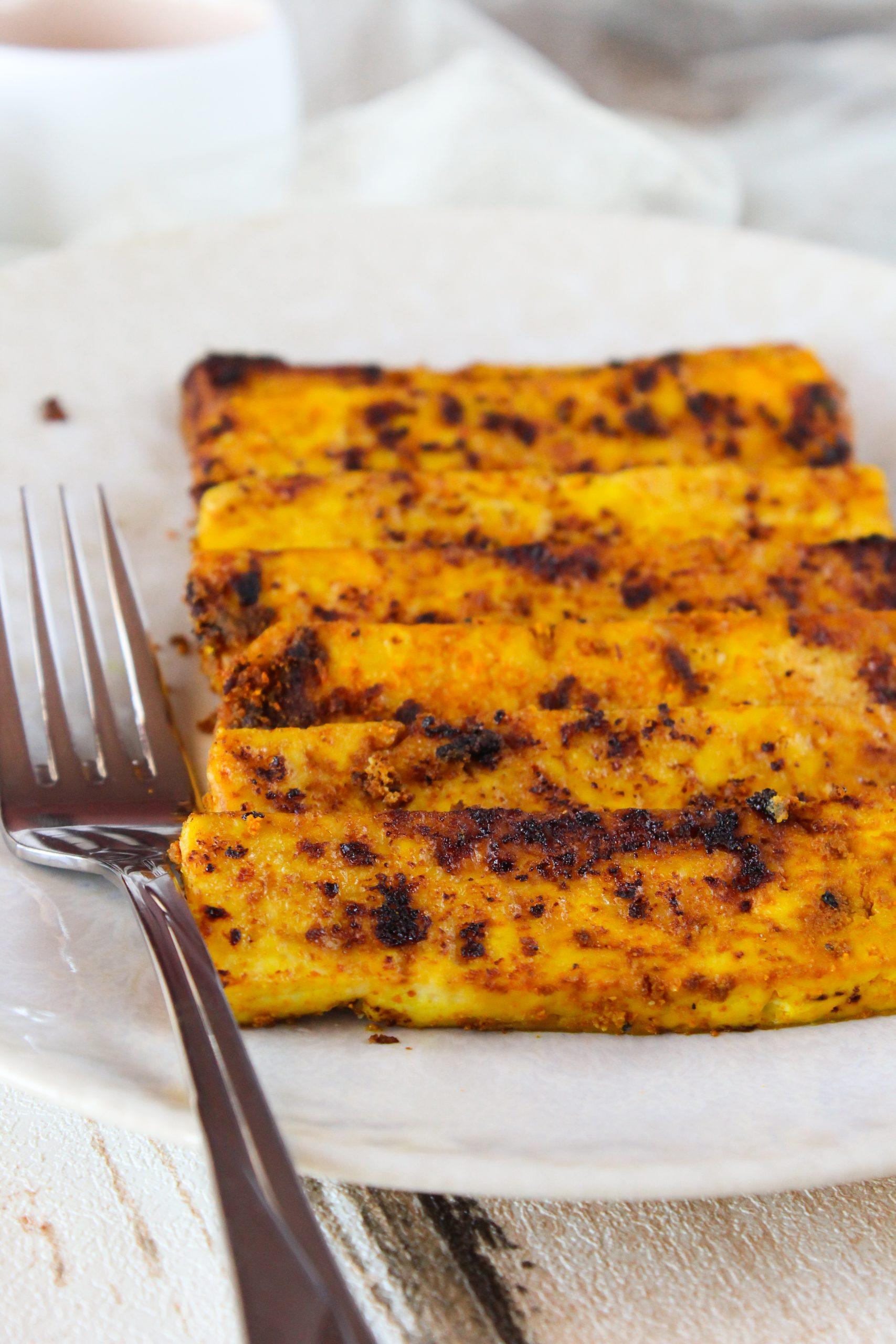 Bifinhos de tofu dourados 2
