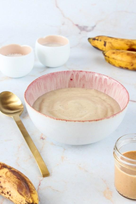 Gelado de banana e manteiga de amendoim 2