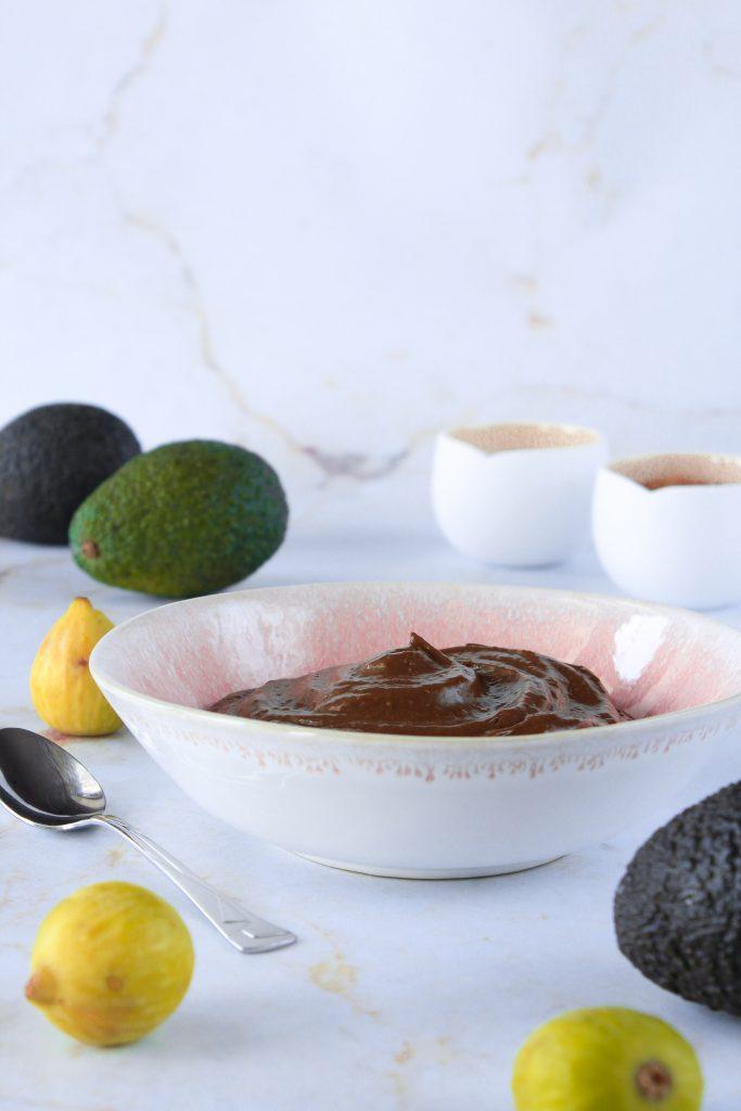 Mousse de abacate, alfarroba e figo 2