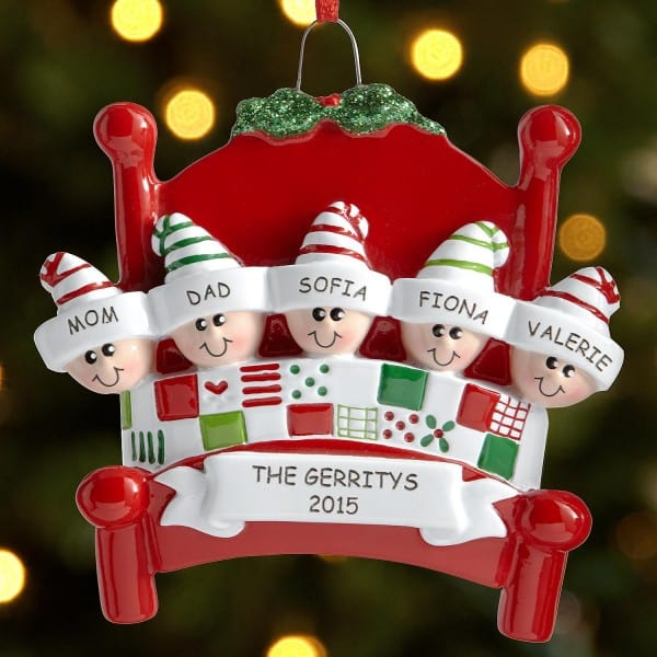 Family Christmas Personalized Ornaments Large 13