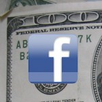 Facebook logo on 100 dollar bill