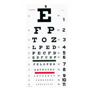 Wall Mount Snellen Eye Chart