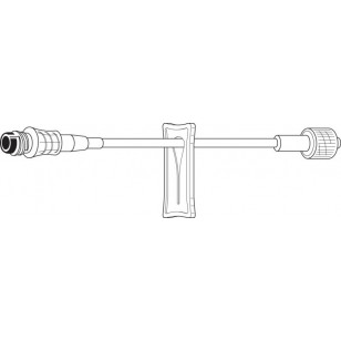 IV Interlink Ext Standard Bore, w/Site & male Luer lock