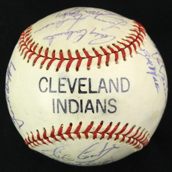 Lot Detail - 1977 Vintage Team Signed Cleveland Indians