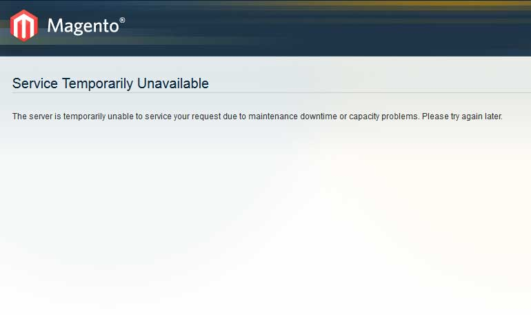 Magento 503 error after upgrade  Measured Designs