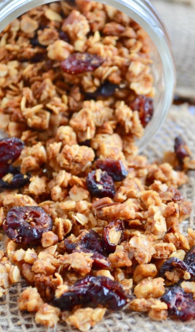 Pecan Coconut Cranberry Granola