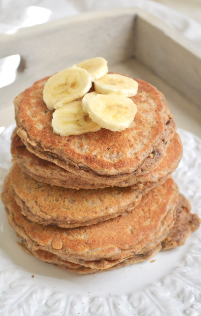 Whole Wheat Banana Nut Pancakes