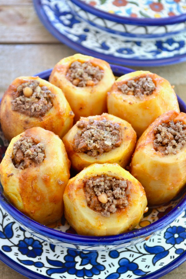 Middle Eastern Stuffed Potatoes