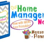 Our Home Management Notebook {Now with MORE Free Printables}