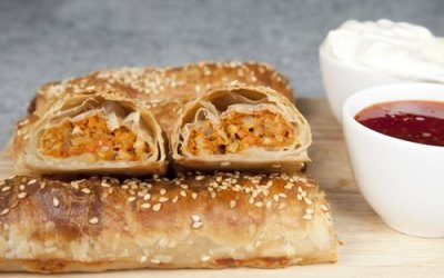 Butter Chicken Sausage Rolls