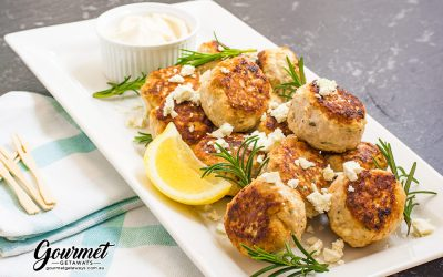 Juicy Chicken and Feta Meatballs