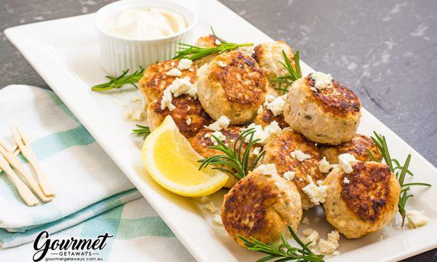 Juicy Chicken and Feta Meatballs