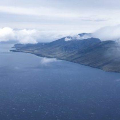 view of hawaiian island in ocean