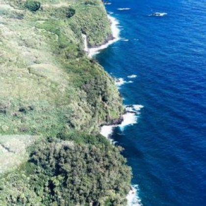 maui, hawaii aerial view of coastline