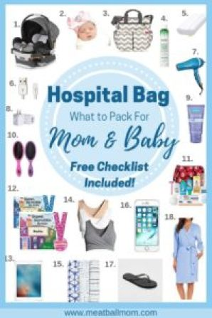 The stork is about to arrive and you're unsure what to pack in your hospital bag for you and baby. This guide shares all the must haves, nice to haves, and items not necessary during your stay. #laborbag #hospitalbag #pregnancy #whattopack #labor #baby #mom #newmom #firsttimemom