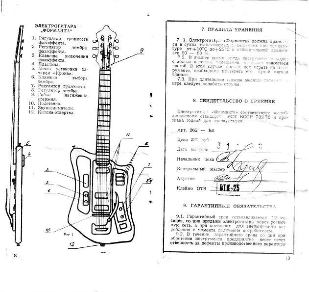 Formanta electric guitar manual