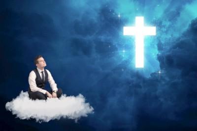 sitting in heaven
