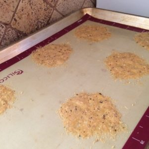 Low carb parmesan cheese crisps