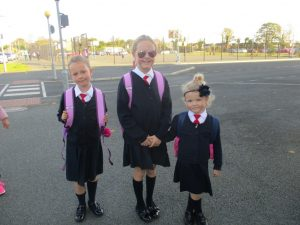 Donacarney Girls little sisters starting school two