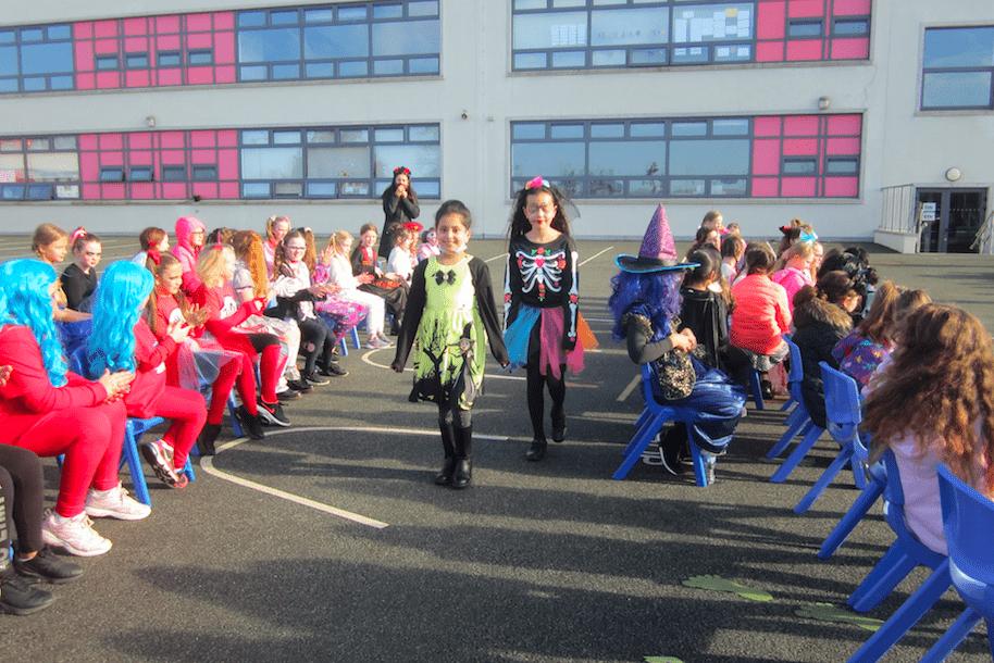 Halloween Art Doncarney Girls School outdoors one