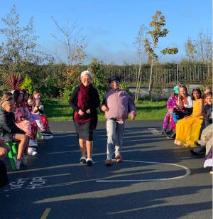 Halloween Art Doncarney Girls School outdoors costumes eleven