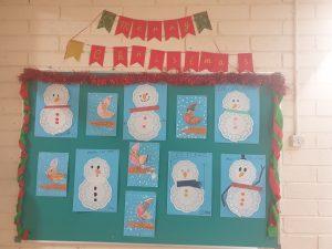 Scoil an Spioraid Naoimh snowmen poster