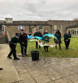Drogheda Grammar School science week bubbles