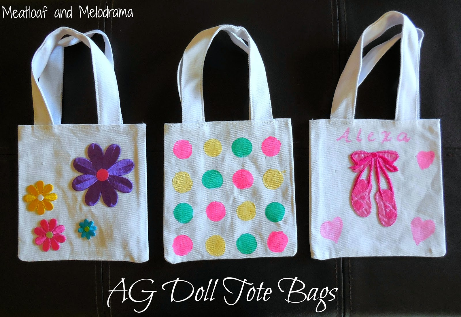 American Girl Doll Tote Bags  Meatloaf and Melodrama