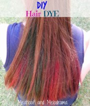 diy temporary hair dye - meatloaf