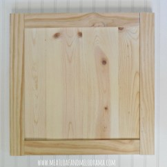Kitchen Cabinet Door Garbage Cans How We Built Our Doors Meatloaf And Melodrama Diy Framed With Smaller Pine Boards