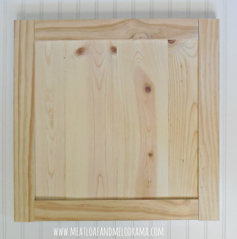 kitchen cabinet door upholstered counter stools how we built our doors meatloaf and melodrama diy framed with smaller pine boards