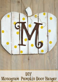 DIY Monogram Wood Pumpkin Door Hanger - Meatloaf and Melodrama