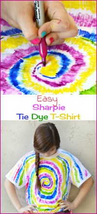 Easy Sharpie Tie Dye T-Shirt - Meatloaf and Melodrama