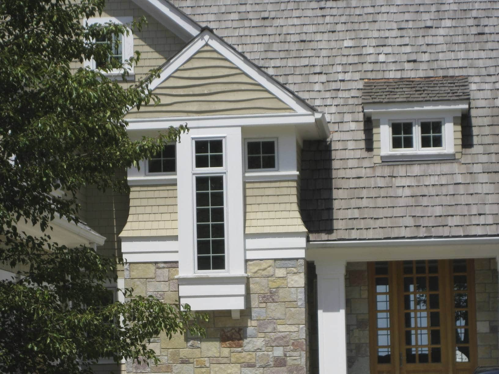 twin lakes house front detail