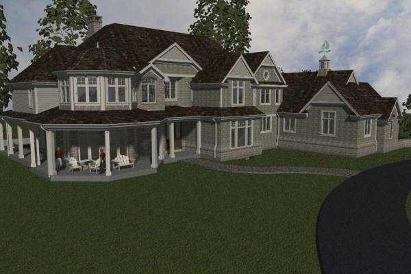 front perspective rendering