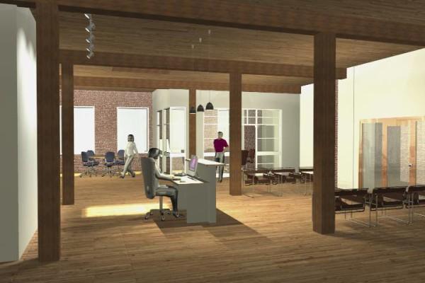 receptionist area concept rendering