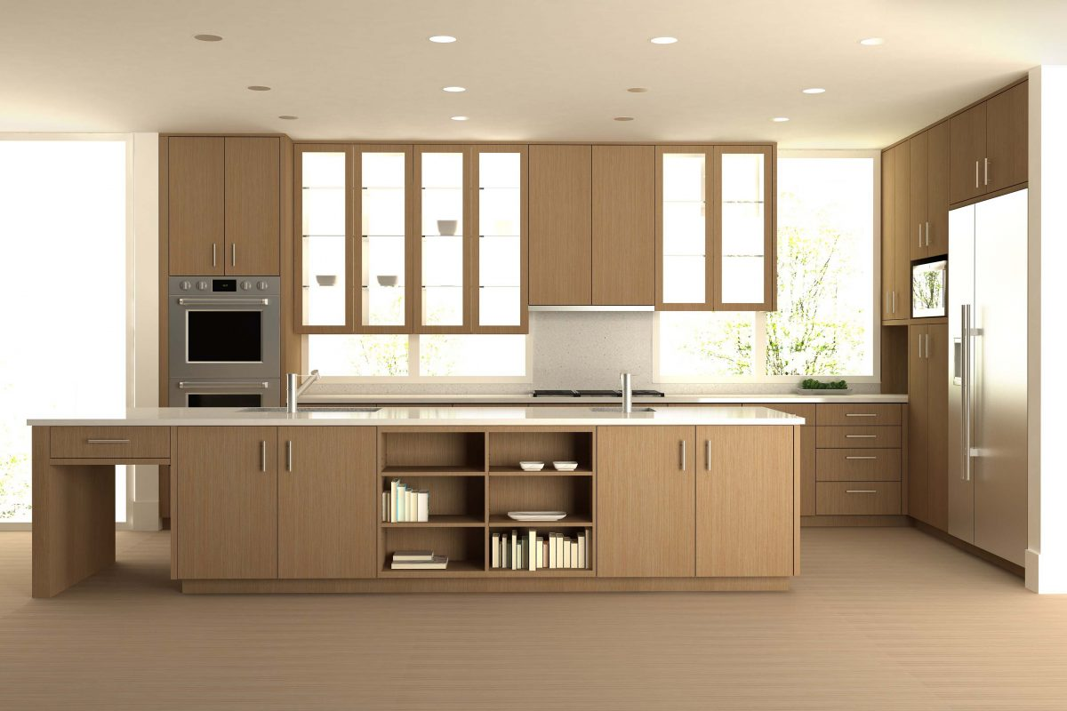 kitchen glass cabinets