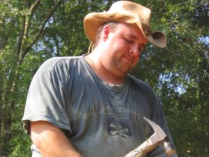 Cowboy hat and hammer