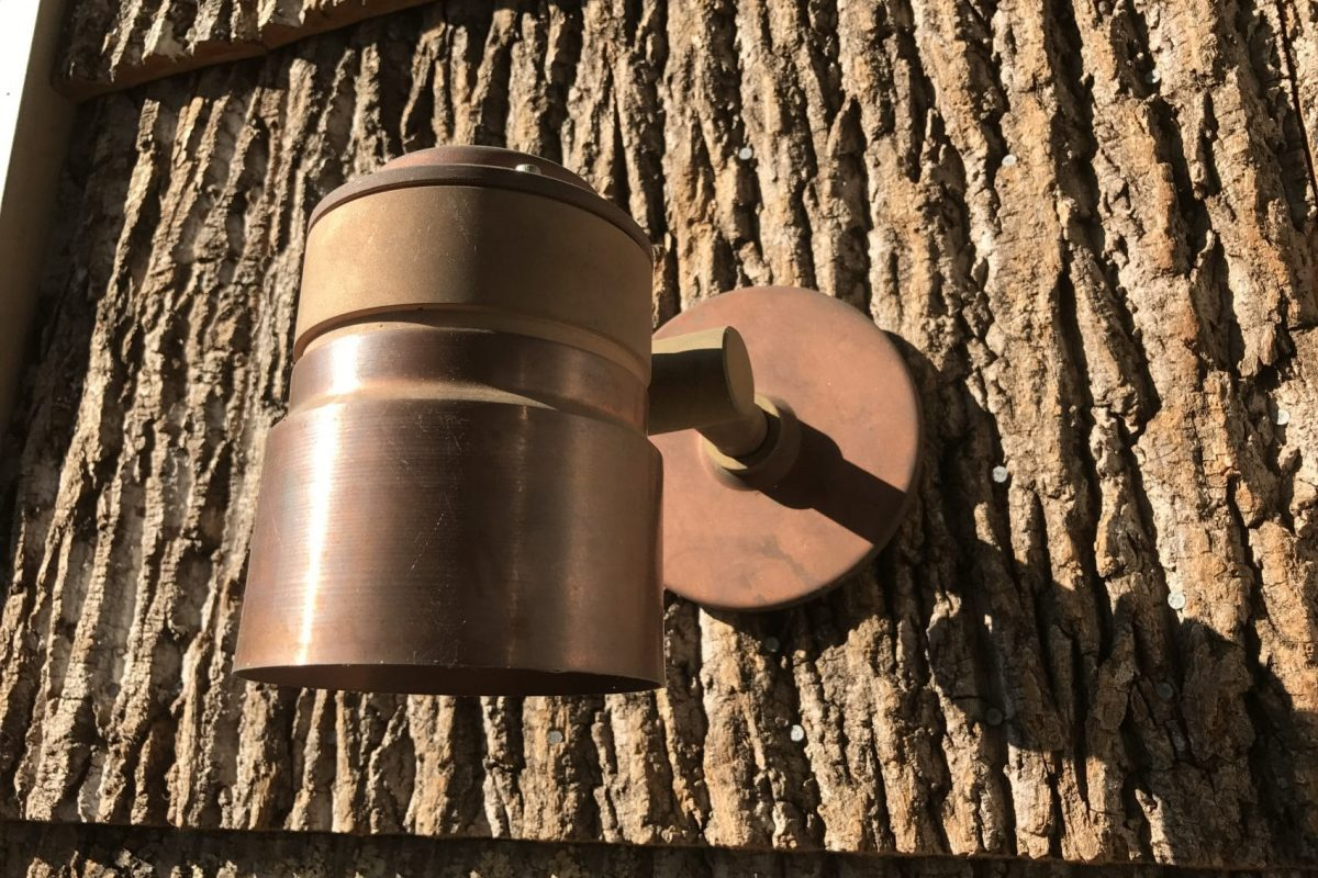 copper coach lamp
